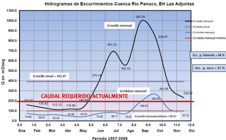 HIDROGRAMA ESCURRIMIENTOS RIO PANUCO