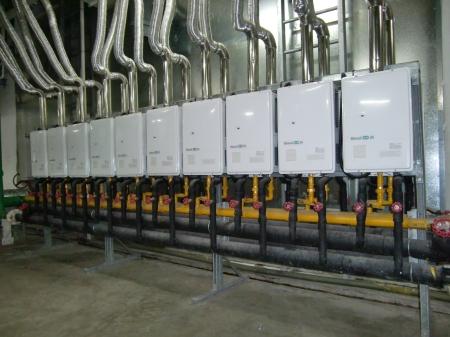 calentadores en paralelo